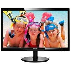 Монитор PHILIPS LCD 24   246V5LSB (00/01) (черный) - МониторМониторы<br>Philips 246V5LSB (00/01) - ЖК-монитор с диагональю 24quot;, тип ЖК-матрицы TFT TN, разрешение 1920x1080 (16:9), светодиодная (LED) подсветка, подключение: VGA, DVI, яркость 250 кд/м2, контрастность 1000:1.