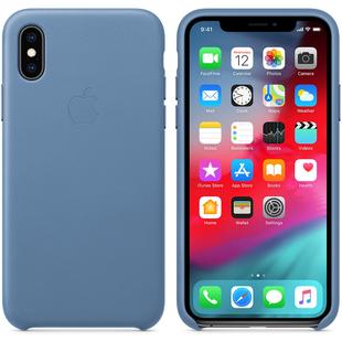 Чехол-накладка для Apple iPhone XS (MVFP2ZM/A) (голубой) - Чехол для телефонаЧехлы для мобильных телефонов<br>Чехол плотно облегает корпус и гарантирует надежную защиту от царапин и потертостей.