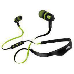 Sven E-217B (черный, зеленый) - НаушникиНаушники и Bluetooth-гарнитуры<br>Наушники SVEN E-217B - Bluetooth-наушники с микрофоном, вставные (затычки), 16 Ом, 110 дБ, вес 43 г, время работы 5 ч, поддержка Bluetooth 4.1.