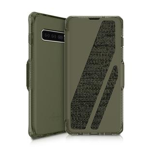 Чехол-книжка для Samsung Galaxy S10 (ITSKINS SPECTRUM FOLIO SGS0-SPCFL-KAKI) (хаки) - Чехол для телефонаЧехлы для мобильных телефонов<br>Чехол плотно облегает корпус и гарантирует надежную защиту от царапин и потертостей.