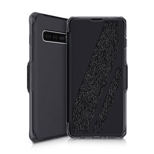 Чехол-книжка для Samsung Galaxy S10 (ITSKINS SPECTRUM FOLIO SGS0-SPCFL-BLCK) (черный) - Чехол для телефонаЧехлы для мобильных телефонов<br>Чехол плотно облегает корпус и гарантирует надежную защиту от царапин и потертостей.