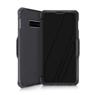 Чехол-книжка для Samsung Galaxy S10e (ITSKINS SPECTRUM FOLIO SGSL-SPCFL-BLK1) (черный) - Чехол для телефонаЧехлы для мобильных телефонов<br>Чехол плотно облегает корпус и гарантирует надежную защиту от царапин и потертостей.