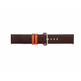 Ремешок для Samsung Galaxy Watch Active (Braloba Strap Studio Active Leather Dress GP-XVR500BRDDW) (темно-коричневый) - Ремешок для умных часов