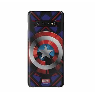 Чехол-накладка для Samsung Galaxy S10 Plus (Marvel Case GP-G975HIFGHWC) (синий) - Чехол для телефонаЧехлы для мобильных телефонов<br>Чехол плотно облегает корпус и гарантирует надежную защиту от царапин и потертостей.