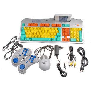 Dendy Магистр Репетитор (серебристый) - Игровая приставкаИгровые приставки<br>Игровая консоль, портативная, в комплекте: кабель AV, джойстик 8-bit 9р-2шт, обучающий картридж, мышь.