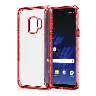 Чехол-накладка для Samsung Galaxy S9 Plus (ITSKINS HYBRID CLEAR SG9P-HBRID-REDD) (красный) - Чехол для телефонаЧехлы для мобильных телефонов<br>Чехол плотно облегает корпус и гарантирует надежную защиту от царапин и потертостей.