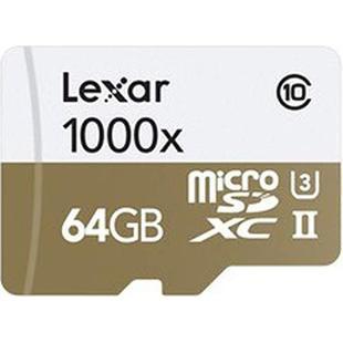 Lexar microSDHC 64GB Class 10 1000x + USB картридер - Карта флэш-памятиКарты флэш-памяти<br>Карта памяти microSDHC, объем 64Гб, Class 10, UHS-II.