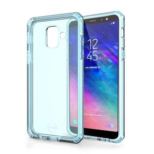 Чехол-накладка для Samsung Galaxy A6 2018 (ITSKINS SGA6-SPRME-WTCB) (голубой) - Чехол для телефонаЧехлы для мобильных телефонов<br>Чехол плотно облегает корпус и гарантирует надежную защиту от царапин и потертостей.