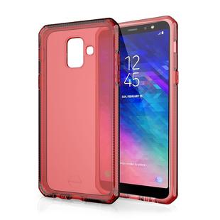 Чехол-накладка для Samsung Galaxy A8 2018 (ITSKINS SGA8-SPRME-REDD) (красный) - Чехол для телефонаЧехлы для мобильных телефонов<br>Чехол плотно облегает корпус и гарантирует надежную защиту от царапин и потертостей.