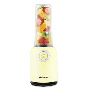 Kitfort КТ-1363-5 (желтый) - БлендерБлендеры<br>Тип: стационарный, мощность: 250Вт, скоростей/режимов — 1, можно мыть в посудомоечной машине.