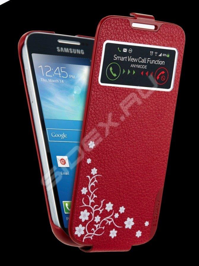 Chehol Flip Dlya Samsung Galaxy S4 Mini Anymode La Fleur Viewcradle F