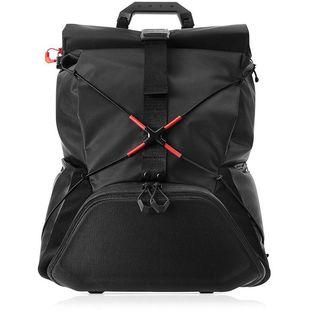 Рюкзак для ноутбука 17.3 (HP OMEN X Transceptor Backpack 3KJ69AA) (черный, красный) - Сумка для ноутбукаСумки и чехлы<br>Стильный и очень удобный рюкзак для ноутбука и всех необходимых мелочей. Имеет модную эргономичную конструкцию рулонного типа.