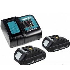 Аккумулятор + зарядное устройство для Makita (Makita 197143-8) - АккумуляторАккумуляторы и зарядные устройства<br>Набор Макита Пауэрпак 197143-8 состоит из зарядного устройства Makita DC18SD, двух аккумуляторов Makita BL1815N, а так же удобного пластикового чемодана серии MakPac.