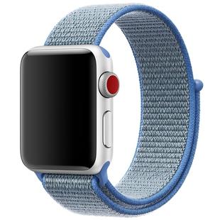 Ремешок для Apple Watch 2, 3, 4 38, 40mm (COTEetCI W17 Magic Tape WH5225-HL) (голубой) - Ремешок для умных часов
