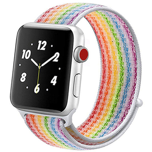 Ремешок для Apple Watch 2, 3, 4 38, 40mm (COTEetCI W17 Magic Tape WH5225-RB) (Rainbow) - Ремешок для умных часов