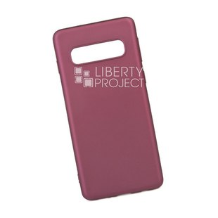 Чехол накладка для Samsung Galaxy S10 (X-LEVEL Guardian 0L-00042003) (бордовый) - Чехол для телефонаЧехлы для мобильных телефонов<br>Предназначен для защиты мобильного телефона от негативного воздействия внешних факторов (пыль, грязь).