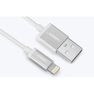 Кабель USB - Lightning для Apple iPhone, iPad (Greenconnect GCR-51342) (белый) - КабелиUSB-, HDMI-кабели, переходники<br>Кабель 1.5m, USB 2.0 AM Linghtning 8pin AM.