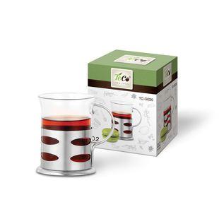 Стакан Teco TC-G020-2 (овалы) - Бокал, стаканБокалы и стаканы<br>Стакан Teco - тип: стакан, материал: стекло, с подстаканником, можно мыть в посудомоечной машине