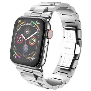 Ремешок для Apple Watch Series 2, 3, 4 42, 44mm (HOCO WB03 Grand) (серебристый) - Ремешок для умных часовРемешки для умных часов<br>Ремешок HOCO WB03 Grand идеально подходит для Apple Watch series 2/3/4 42/44mm. Он делает их премиальный образ более изысканным и обеспечивает комфортное ношение на руке в течение всего дня. Аксессуар выполнен из качественной нержавеющей стали с особым плетением. Он подходит для запястья с обхватом в пределах 5.8 - 8.1quot;.