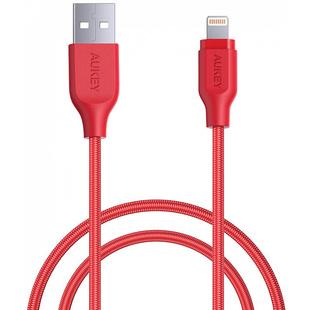 Кабель USB - Lightning для Apple iPhone, iPad (Aukey CB-AL1) (красный) - КабелиUSB-, HDMI-кабели, переходники<br>Aukey CB-AL1 USB to Lightning 1.2m представляет собой кабель-переходник с коннекторами USB-A и Lightning. Он позволяет синхронизировать устройства с совместимыми интерфейсами, а также заряжать различные мобильные гаджеты от СЗУ, АЗУ или любого другого источника энергии. Кабель позволяет передавать данные на высокой скорости между двумя устройствами.