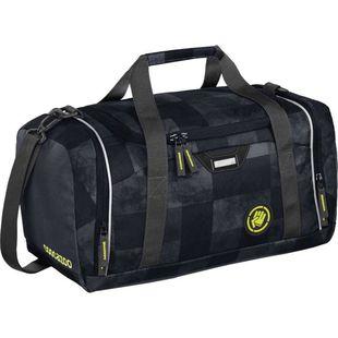 Сумка спортивная Coocazoo SporterPorter Mamor Check (черный) - Спортивная сумкаСпортивные сумки<br>Спортивная сумка для спортивного инвентаря, такого как одежда, кроссовки, полотенца и т.д. Съемный регулируемый по высоте плечевой ремень с мягкой накладкой. Боковой карман для хранения ценностей, таких как мобильный телефон, кошелек или ключ от входной двери. 2-полосная молния.