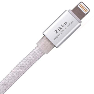 Кабель USB - Lightning для Apple iPhone, iPad (Zikko Lightning CL-150R) (серебристый) - Кабели