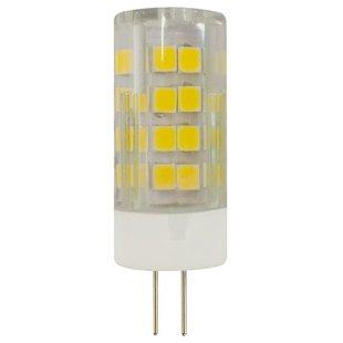 Лампа светодиодная ЭРА Б0027859 G4, JC, 5Вт, 2700К - ЛампочкаЛампочки<br>Лампа светодиодная ЭРА Б0027859 G4, JC, 5Вт, 2700К - форма колбы: капсула, тип цоколя: G4, мощность: 5 Вт, напряжение: 170-265 В, свет: теплый белый, степень пылевлагозащиты: IP20, цветовая температура: 2700 К, световой поток: 400 лм, индекс цветопередачи: 80 Ra, диаметр: 18 мм, срок службы: 30000 ч, площадь освещения: 2.50 м?