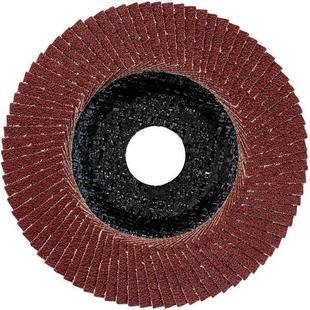Шлифовальный диск ламельный 125мм Metabo 624395000 - Диск, чашкаДиски и чашки шлифовальные<br>Диск шлифовальный ламельный (лепестковый), 125х22.5, Р40, наклонный