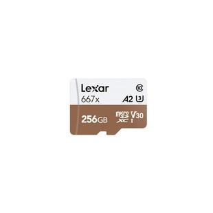 Lexar microSDXC 256GB Class 10 667x + адаптер - Карта флэш-памятиКарты флэш-памяти<br>Карта памяти microSDXC, объем 256Гб, UHS-I Class 10, адаптер SD.