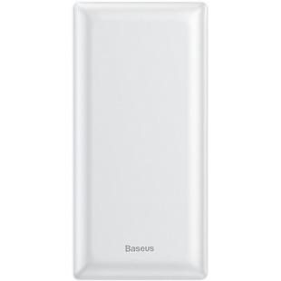 Baseus Mini JA Fast charge PPJAN-B02 20000mAh (белый) - Внешний аккумуляторУниверсальные внешние аккумуляторы<br>Baseus Mini JA Fast charge 20000mAh PPJAN-B02 — это компактный внешний аккумулятор, который обладает поддержкой быстрой зарядки Power Delivery с максимальной мощностью на выходе 15 Вт. В модели имеется 2 входных и 3 выходных разъема для зарядки портативных гаджетов и самого аккумулятора.
