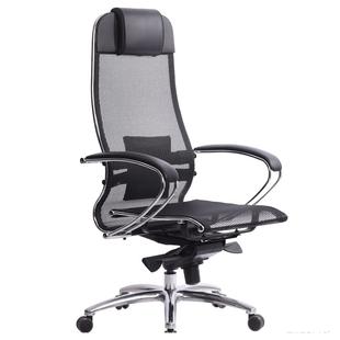 Метта Samurai S-1.03 (4665302683731) (черный) - Стул офисный, компьютерныйКомпьютерные кресла<br>Офисное кресло, механизм качания, 120 кг, регулировка высоты.