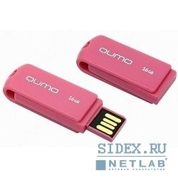 USB Flash Drive Qumo Twist Cerise 16GB (QM16GUD-TW-Cerise) (розовый)