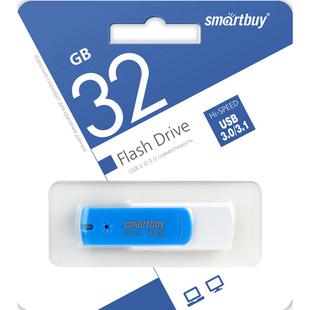 SmartBuy Diamond UFD 32GB USB3.0 (SB32GBDB-3) (голубой) - USB Flash driveUSB Flash drive<br>Флэш-накопитель 32 ГБ, интерфейс USB 3.0, UFD, голубая