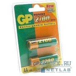 Аккумуляторная батарея AA (GP270AAHCHP) (2700 мАч, 2 шт) - Батарейка, аккумуляторБатарейки и аккумуляторы<br>Модель: GP270AAHCHP, Тип: Элемент питания АА, Назначение: Для питания устройства, Дополнительно: 2 штуки в упаковке