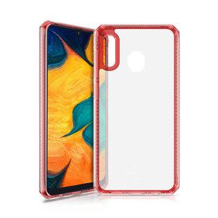 Чехол-накладка для Samsung Galaxy A30 (ITSKINS HYBRID CLEAR SG03-HBMKC-RATR) (красный) - Чехол для телефонаЧехлы для мобильных телефонов<br>Чехол плотно облегает корпус и гарантирует надежную защиту от царапин и потертостей.