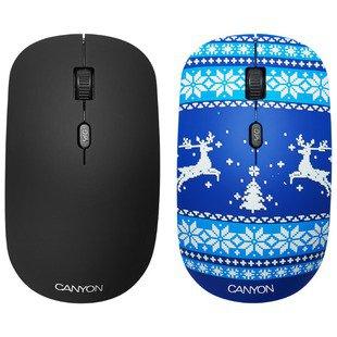 Мышь Canyon CND-CMSW401JB Новогоднее настроение Blue USB - МышьМыши<br>Мышь Canyon CND-CMSW401JB Новогоднее настроение Blue USB - тип: мышь, интерфейс подключения: USB, предназначение: настольный компьютер, беспроводная, тип беспроводной связи: радиоканал, радиус действия беспроводной связи: 10 м, колесо прокрутки, принцип работы: оптическая светодиодная, дизайн: для правой и левой руки, количество клавиш: 4, разрешение оптического сенсора: 1600 dpi, источник питания: 2xAAA, цвет: несколько цветов