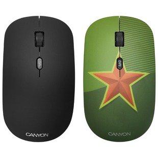 Мышь Canyon CND-CMSW400S star Green USB - МышьМыши<br>Мышь Canyon CND-CMSW400S star Green USB - тип: мышь, интерфейс подключения: USB, предназначение: настольный компьютер, беспроводная, тип беспроводной связи: радиоканал, радиус действия беспроводной связи: 10 м, колесо прокрутки, принцип работы: оптическая светодиодная, дизайн: для правой и левой руки, количество клавиш: 4, разрешение оптического сенсора: 1600 dpi, источник питания: 2xAAA, цвет: зеленый