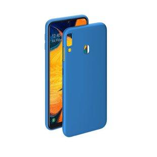 Чехол-накладка для Samsung Galaxy A30 (Deppa Gel Color Case 86653) (синий) - Чехол для телефонаЧехлы для мобильных телефонов<br>Чехол плотно облегает корпус и гарантирует надежную защиту от царапин и потертостей.