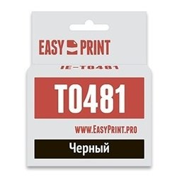 Картридж для Epson Stylus Photo R200, R220, R300, R300ME, R320, R340, RX500, RX600, RX620, RX640 (Easyprint IE-T0481) (черный, с чипом) - Картридж для принтера, МФУКартриджи<br>Совместим с моделями: Epson Stylus Photo R200, Epson Stylus Photo R220, Epson Stylus Photo R300, Epson Stylus Photo R300ME, Epson Stylus Photo R320, Epson Stylus Photo R340, Epson Stylus Photo RX500, Epson Stylus Photo RX600, Epson Stylus Photo RX620, Epson Stylus Photo RX640.