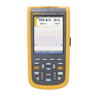 Fluke 125B/EU - Измерительный инструментИзмерительный инструмент<br>Компактный осциллограф-мультиметр, макс. скорость развертки 8.75 нс/деление, макс. частота взятия отсчетов в реальном времени 40 Мвыб/с + эквивалентная выборка во времени, ширина полосы частот 40 МГц, количество каналов 2.