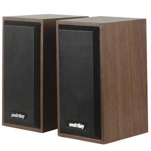 SmartBuy One (орех) - Колонка для компьютераКомпьютерная акустика<br>Акустическая система 2.0, дерево, 6 Вт, питание от USB, коричневая