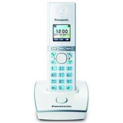 DECT-телефон Panasonic KX-TG8051 (белый) - РадиотелефонРадиотелефоны<br>Комплект из базы и трубки, поддержка стандартов DECT/GAP, громкая связь (спикерфон), определитель номеров (АОН/Caller ID), аккумуляторы: AAAx2, цветной дисплей на трубке, полифонические мелодии.