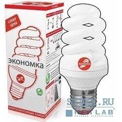 Лампа энергосберегающая КЛЛ КОСМОС Экономка 15/842 E27 D48 х118 (LKsmSPC15wE2742eco_1) (спираль) - ЛампочкаЛампочки<br>Мощность 15 Вт, цоколь E27, срок службы 8 000 часов, цветовая температура 4200 К.