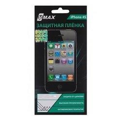 Защитная пленка для Apple iPhone 4, 4S (Vmax CD126139) (черная) - ЗащитаЗащитные стекла и пленки для мобильных телефонов<br>Защитная плёнка изготовлена из высококачественного полимера и идеально подходит для данных моделей устройств.