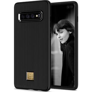 Чехол накладка для Samsung Galaxy S10 Plus (Spigen La Manon Classy 606CS25785) (черный) - Чехол для телефона