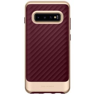 Чехол накладка для Samsung Galaxy S10 Plus (Spigen Neo Hybrid 606CS25775) (Burgundy) - Чехол для телефона