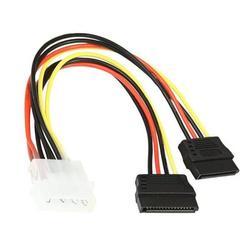 Кабель SATA Power Converter Gembird (CC-SATA-PSY) - Кабель, переходникКабели, шлейфы<br>Gembird CC-SATA-PSY - кабель SATA, разъемы Molex (4pin, БП) - 2xSATA, длина кабеля 15 см.
