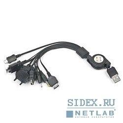 Адаптер USB с рулеткой для зарядки мобильных телефонов (Gembird A-USBTO11B) - Кабель, переходникКабели, шлейфы<br>Кабель предназначен для передачи цифровых данных.