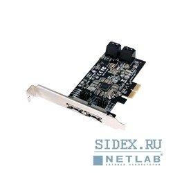 Контроллер STLab (A520) RTL - КонтроллерКонтроллеры<br>Предназначен для создания RAID массивов (RAID - массив из нескольких дисков, управляемых контроллером) и c поддержкой технологии Marvell Hyper Duo. Hyper Duo - технология с помощью которой можно создать быстрый и недорогой массив из емкого, но относительно медленного HDD и быстрого, но достаточно дорогого и менее емкого SSD. Поддерживаемые уровни RAID Hyper Duo, 10, 1, 0.