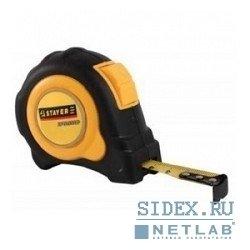 Рулетка STAYER (MASTER Autolock 3402-5_z01) (5 м х 25 мм) - Измерительный инструментИзмерительный инструмент<br>Рулетка применяется при проведении высокоточных линейных измерений.